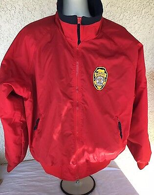 BAYWATCH Lifeguard Official Rare Red Embroidered Jacket Cast & Crew  Size XL