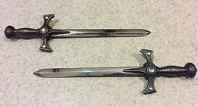 Xena Warrior Princess RARE 2 Letter Openers, Set of BOTH Gold and Silver