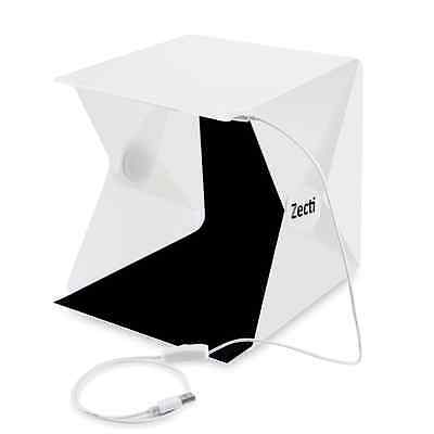 Zecti Photo Light Box with Black and White Backdrop for Smartphone and DSLR Ligh
