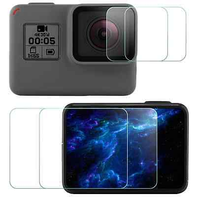 4 x Screen Lens Protector Tempered Glass for GoPro Hero 5 Black Sport Camera