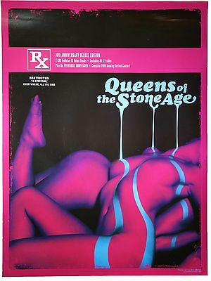 "QUEENS OF THE STONE AGE - ""RATED R"" Promo Poster QOTSA Kii Arens Art Rock Poster"