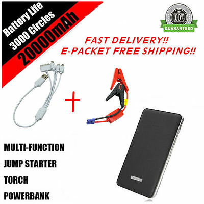 30000mAh Car Jump Starter Battery Charger Power Bank Portable Pack Booster+LED