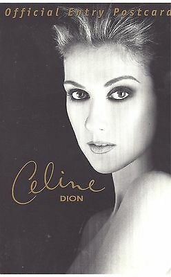 Celine Dion Official Entry Postcard - North American Tour (1998)