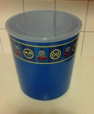 Thomas the Tank Engine TRAIN Container with Lid could use as Garbage Trash Can