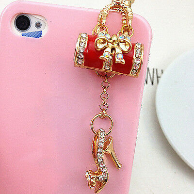 HOT Handbag Shoe Pattern Earphone Dust Plug Small Décor Cellphone Accessory