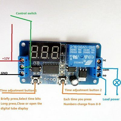 DC Self-lock Relay PLC Cycle 12V Multifunction Timer Module Delay Switch V4