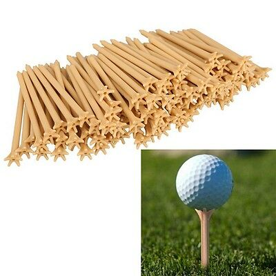 100 Pcs Pack Professional Frictionless Golf Tee Wheat Golf Tees Plastic 70mmLAUS