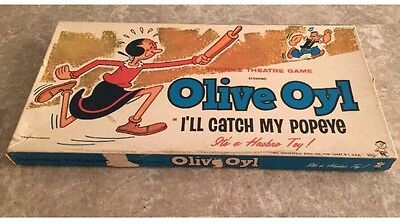 Vintage Hasbro 1965 Olive Oyl Catch My Popeye Rare Board Game Complete VERY RARE