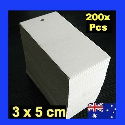 NEW 200 x White Swingtags Swing Tags Garment Price Label Tag for Tagging Gun