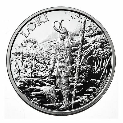 5th & Final 1 OZ LOKI PROOF .999 Silver w/ COA VALKYRIE NORSE GODS SERIES Viking