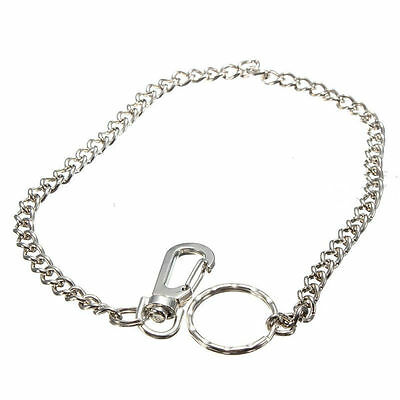 """Men 15"""" Silver Casual Chunky Metal Extra Long Wallet Chains KeyChain Biker Jeans"""