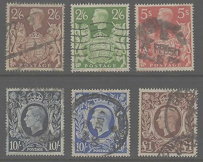 1939/48 Arms high values set of 6 -  SG476-478b fine used
