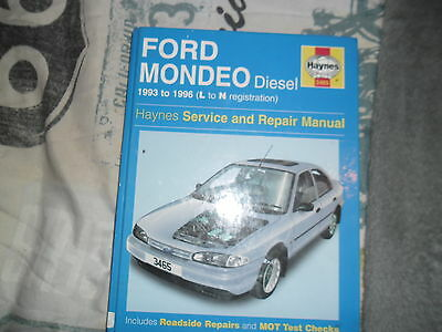 Haynes Manual Ford Mondeo Diesel 1996