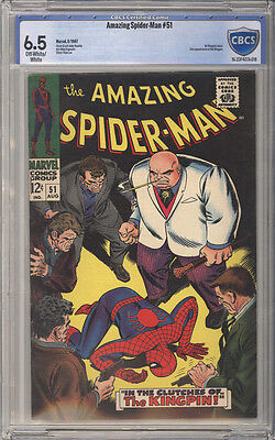 Amazing Spider-Man  # 51  The Clutches of the Kingpin !  CBCS 6.5 scarce book !