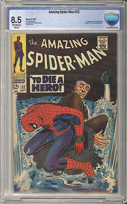 Amazing Spider-Man  # 52  To Die A Hero !  CBCS 8.5 scarce book !