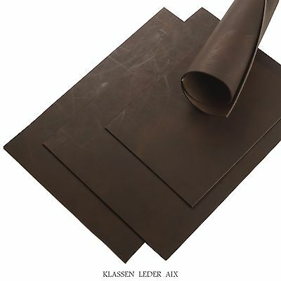 Buffalo Leather Mocca Soft Pull-Up 2,5 mm Thick A3 Cowhide Croupon LARP 36