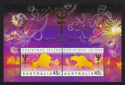 Christmas Island 1997 Year of the Ox MS MNH