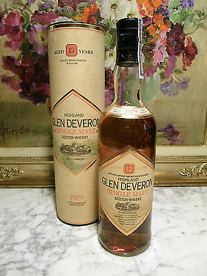 WHISKY - OLD GLEN DEVERON 12 YEARS OLD 1979 + Box