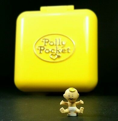 Polly Pocket 1989 MIDGE'S PLAY SCHOOL W/1 Doll Vintage Bluebird Yellow Square