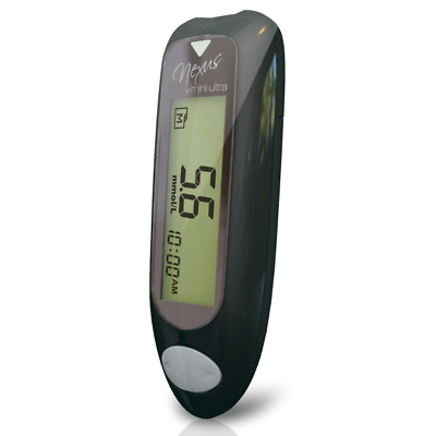 GlucoRX Nexus Mini Blood Glucose Monitoring System White VAT FREE