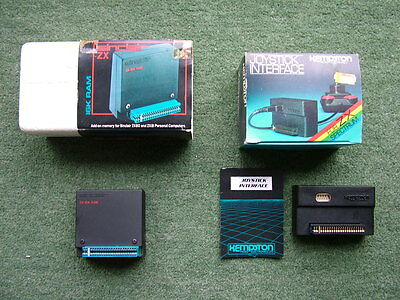 Sinclair 16k Rampack, RAM pack for the ZX Spectrum + Joystick Interface Boxed