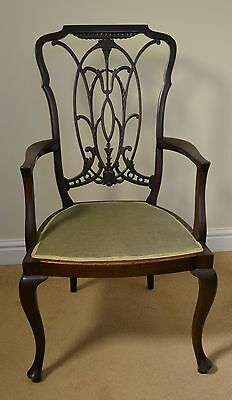 Antique mahogany Chippendale style chair good original condition