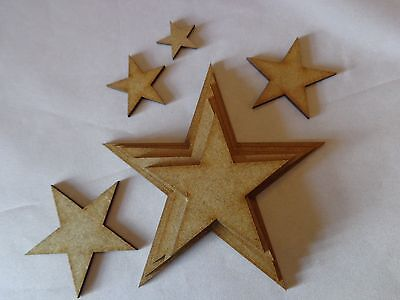 Huge Bundle Mixed Size Stars - approx 125 pieces - nursery craft project