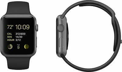 Apple Watch Sport 38mm Space Grey Aluminum Case Black Sport Band
