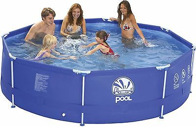"""NEW Tesco Large 12ft Metal Frame Pool with Filter Pump 144"""" x 30"""" - Blue"""