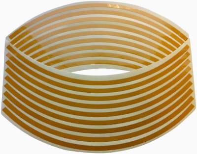 Reflective Wheel Rim Tape Stripes - Yellow Fits All