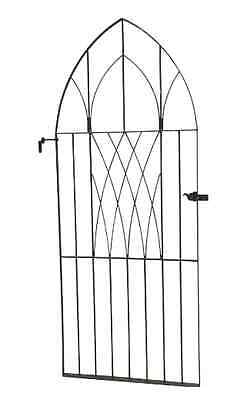English Antique Gothic Iron Gate Garden Gate Antique Architectural