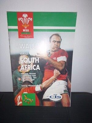 Wales V South Africa Rugby Programme 1994
