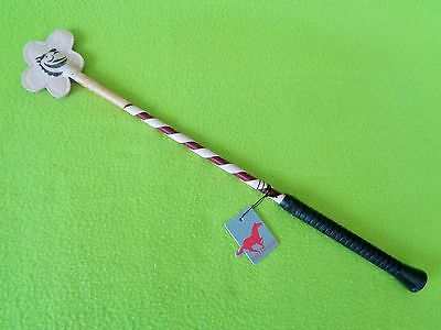 New PINK Horka RED HORSE Glitter Whip Riding Crop Bat~Schooling Training~NICE!