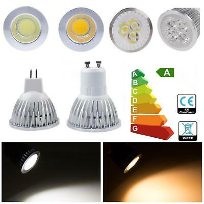 10x/20x GU10 MR16 4W 5W 6W 7W Warm/ White COB LED Light Bulbs Dimmable Spotlight