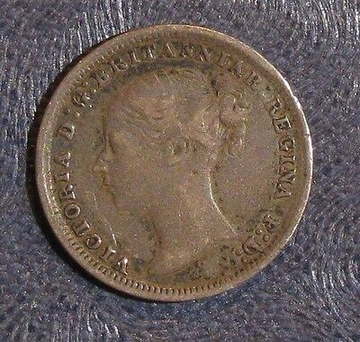 1879 Great Britain Threepence 3 Pence Silver KM #730 *VF*