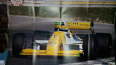 Poster PIER LUIGI MARTINI su Minardi M 189 - Ford cm 80 x 54 Supplemento AS