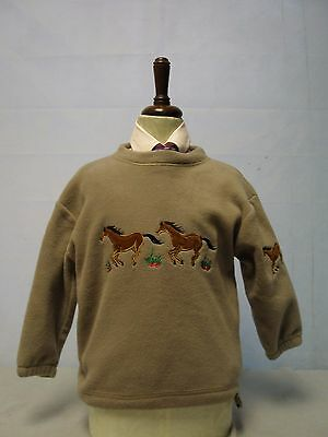 British Country Collection Kid  Fleeced Jumper Beige Small