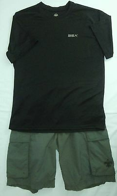 Boy Scouts of America Adult Casual Uniform Green Shorts Black T-Shirt Size S