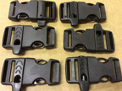 Plastic Side Release Buckles for Webbing Belts and straps - Pk 6