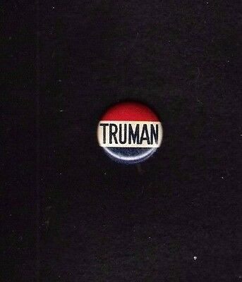 HARRY TRUMAN litho red, white and blue 7/8 inch 1948 campaign button