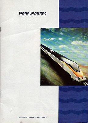 British Rail Channel Tunnel Booklet - pre-building and opening c1980s