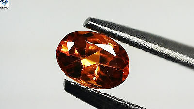 1x Spessartin Granat - Oval facettiert 0,30ct.3,2x4,6mm (1452D)