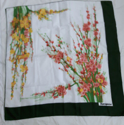 vintage jacqmar made in italy floral scarf