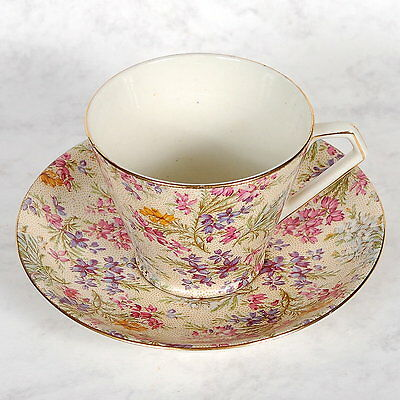 "Lord Nelson ""heather"" Chintz Cup & Saucer"