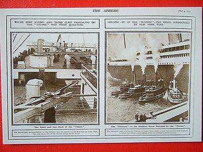 R M S Titanic And Olympic Postcard