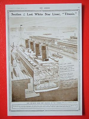 R M S Titanic Postcard - Section Of The White Star Liner Titanic