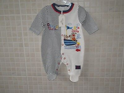 Baby Clothes boys Sleepsuit All in one Babygrow Boys Zip Zap 0 - 6 Months