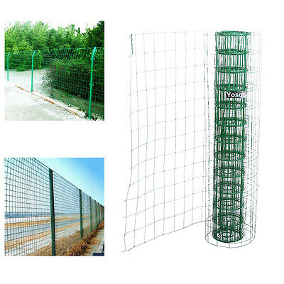 UK 1.2*10M PVC Coated Mesh Wire Green Fencing Garden Galvanised Fence Netting