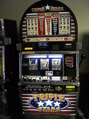 "Igt S2000 Coinless Slot Machine ""triple Stars 3 Reel"""