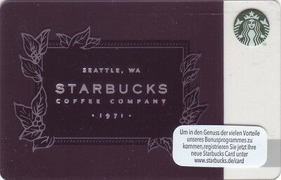 STARBUCKS Card from Germany | 2016 | 1